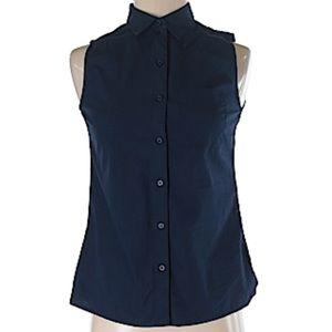Banana Republic sleeveless button down blouse